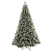 7.5 Feet Christmas Tree Holiday Decor Pre-lit Frosted Pvc Tree With Pinecones