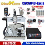 Cnc 6040 4axis Engraver Router Frame Mach3 Usb Wood Milling Engraving Machine Us