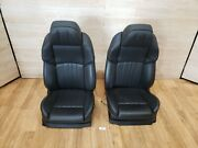 ✅ 12-17 Oem Bmw F10 M5 Black Leather Left Right Front Seats Pair Climate Control