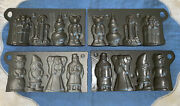 John Wright Cast Iron Candy Molds Christmas Holiday2vintage 1990andrsquos Collector