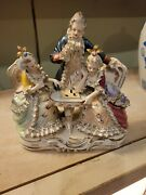 Bone China Lace Playing Chess Figurine. 8.5 Inches Tall