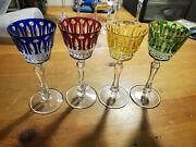 Faberge Crystal Xenia Wine Glasses Set Of Four