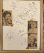 Huge Vintage Collection Of Country Music Stars Autographs