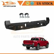 For Toyota Tacoma 16-19 Step Steel Rear Bumper Guard Protector Built-in 4 Leds