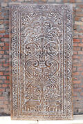Vintage Wall Panel Hand Carved Wall Art Decor Unique Beautiful Floral Carved