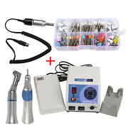 Dental Marathon Micromotor N7+contra Angle+straight Handpiece+100brushes Cups