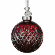 Waterford Crystal 2019 Ruby Ball Cased Christmas Ornament 40035474 New
