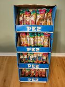 Vintage Pez Dispensers With Display Case