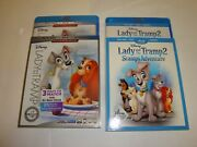 Lady And The Tramp 1 And 2 Brand New W/slip Covers And Digitals Blu-ray/dvd