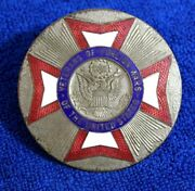 Vintage Veterans Of Foreign Wars Grille Badge Bumper Topper Accessory Brass Vfw