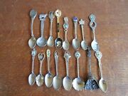 Lot Of 16 Souvenir Collector Spoons - Ireland Holland Hawaii Seattle And More