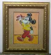 Antique Piece Mickey Mouse / Andy Warhol, Signed / Beautiful Art Handmade