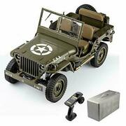 Rc Car Usarmy Willys Jeep Ww2 1/6 2.4g 2ch Waterproof Motor Truck Mb Scaler 1941