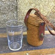Vintage French Vichy Spa Mineral Water Glass With Case, Stamped