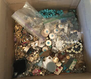 Vintage To Now Junk Jewelry Lot Unsearched Untested Large Flat Rate Box Full