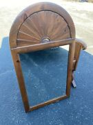 Ethan Allen Country Craftsman Pine Large Wall Mirror