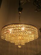 By Palwa Antique Vnt Germany Crystal Chandelier Lamp 1960and039s 16in Andoslash Dm