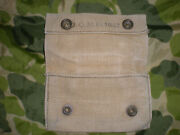 Wwii First Aid Kit Pouch Jqmd 1942 Carlisle 2 Snap Khaki Pouch Nice Hard To Find
