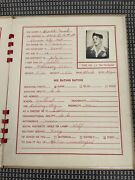 Antique Young Woman's Dating Record Book Kansas City W Entries Him Book 1941
