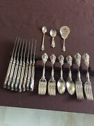 Grand Baroque Wallace Sterling Silver Flatware Service For 8