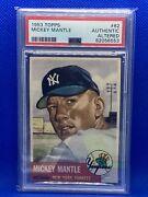 1953 Topps Mickey Mantle 82 Psa Authentic Altered Yankees