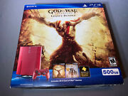 Sony Playstation 3 Ps3 God Of War Red 500gb Console Open Box