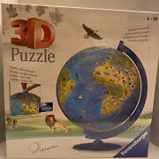 Ravensburger 3d Puzzle World Globe 187 Pieces New Sealed Gift
