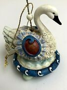 Kirkland Costco 12 Days Of Christmas Ornament 7 Swans A Swimming Resin 4
