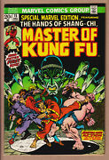 Special Marvel Edition 15 Nm High Grade+ 1st Shang-chi Master Kung Fu 1973 Owp