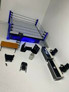 Wwe Elite Collection Smack Down Live Main Event Ring Playset With Accessories