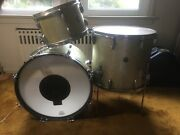 Gretsch Early 1950and039s Round Badge Vintage 3 Pc. Drum Set - Ex. Condition