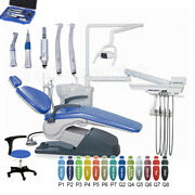 Dental Unit Chair Leather Computer Controlled + Dentistand039s Stool + Handpiece Kitandnbsp