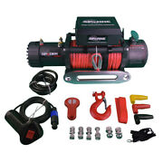 13500 Lb Capacity Synthetic Rope Car Electric Winch 12 Volt Dc Powered