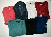 Wholesale Bulk Lot Of 7 Womens Small Long Sleeve Winter Sweaters And Cardigans