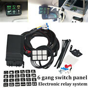 6 Gang Switch Panel Led Work Light Bar Electronic Relay Circuit Control System