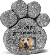 And039you Left Paw Prints On Our Heartsand039 Paw Print Pet Memorial Stone Grave Marker...