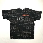 Vintage 1993 Van Halen Live Right Here Right Now All Over Print T-shirt Xl