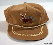 Usa Made K-brand Corduroy Ford New Holland K-products Hat Tractor Farm Seed Deer