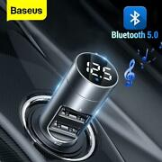 Universal Wireless Car Charger Fm Modulator 3.1a Usb Audio For Iphone Samsung