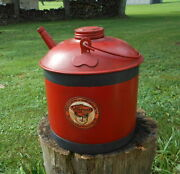 Vintage Eagle 2-1/2 Gallon Gas Can With Oilzum Decal Service Station