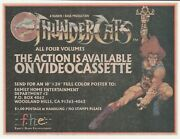 Original 1986 Comic Book Print Ad For Thundercats Series Vhs And Poster Offer