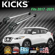 Fits For Kicks 2017-2021 Suv Top Roof Rack Cross Bar Baggage Luggage Carrier Bar