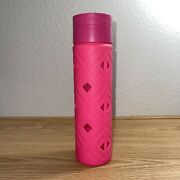 Lululemon Pure Focus Glass Water Bottle Boom Juice Deepest Cranberry Silicone
