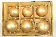 Lot Vintage Mercury Glass Krinkle Wire Gold Balls Christmas Ornaments Germany
