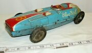 Champion 8 Blue Bird Race Car Tin Toy Marusan Japan For Parts Or Restore