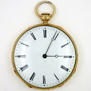 Antique Gold Pocket Watch 19th Century Swiss With Quarter Repeat