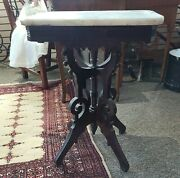 Antique Victorian Walnut Parlor Table With Marble Top 20x15x 27 Pick Up Only