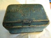 Vintage Ford Emergency Bulb And Fuse Kit Part 18407 Tin Box