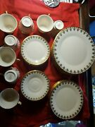 Beautiful Eight Place Settings Lenox Clarion Pattern Mint Condition Minus One
