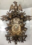 Antique Hand Carved German Cuckoo Clock In Working Condition